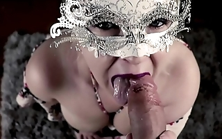 SexyVickie CFNM blowjob with facial HD