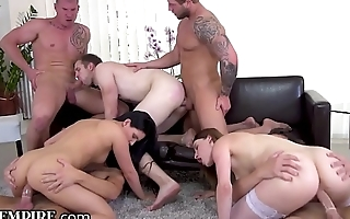 BiEmpire 5 Studs and 2 Chicks Buttfucking Bi-Orgy!
