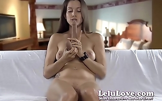 Sucking on my dildo demonstrating how I would suck your cock JOI