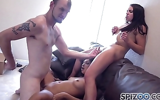Spizoo - Jade Jantzen &amp_ Jazmine Jayyde are punished by two big dicks