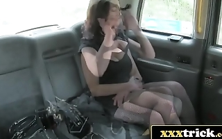 Elite British Prossie Fucks Lucky Cab Driver - Vickie Powell