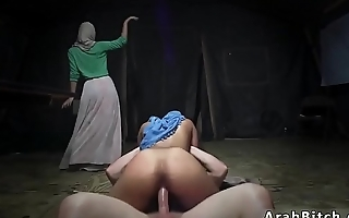Arab webcam dildo Sneaking in the Base!