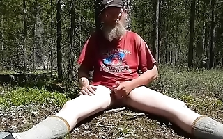 drogo bramble jacking off in the woods and eating his own cum.