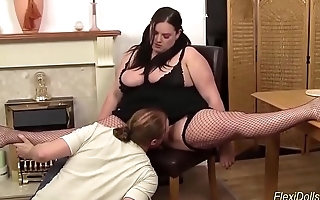 fat bbw real doll fucked in flexi positions