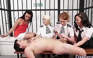 Cfnm lady cops suck cock