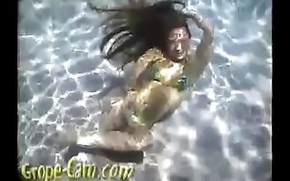 Young Teen Ashley POV Underwater - More of her at Grope-Cam.com