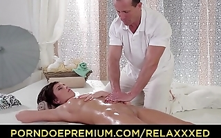 RELAXXXED - Sensual oily massage and anal fuck at the spa for Euro babe Anabell