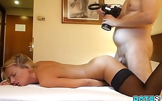 Date Slam - Cock gobbling young blonde slut fucked on 1st date - Part 2