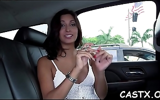 Beauty goes wicked at a casting and gives a blowjob in pov