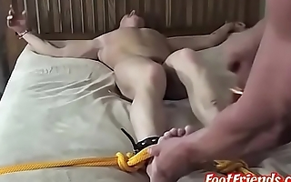 Hunky master tickling and dominating over muscle sub