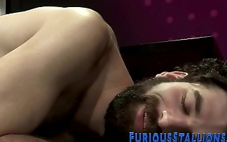 Gay hunk sucking on bbc