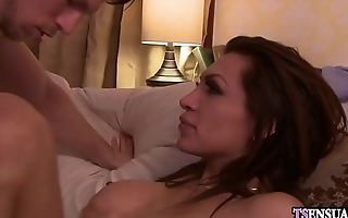 Angry latina shemale got anal smashed after a quarrel