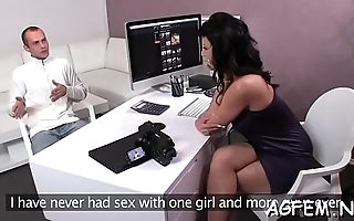Stunning female agent receives a stunning fucking session