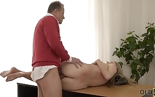 OLD4K. She got lost and was found on a huge cock