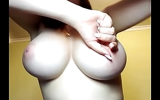 Wow super nice big round natural boobs amateur