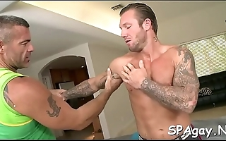 Wild blowjobs and deep anal drilling with hot homosexual males