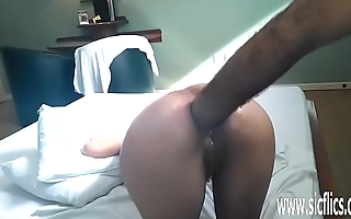 Brutal anal fisting and whiskey bottle fuck