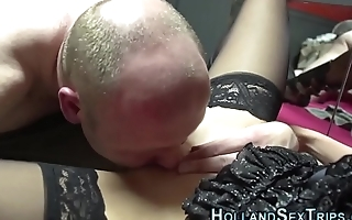 Fingered real dutch whore