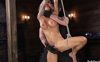 Huge tits Milf whipped in hogtie