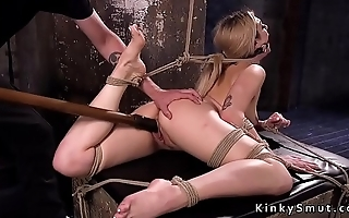 Back arched slave pussy fucked with toy